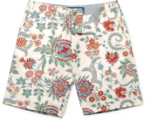 French Floral Print Short