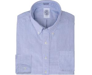 Classic Oxford Cloth Blue & White Stripe Button Down Shirt