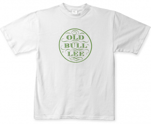 White cotton crew neck T with Apple green logo - Front view