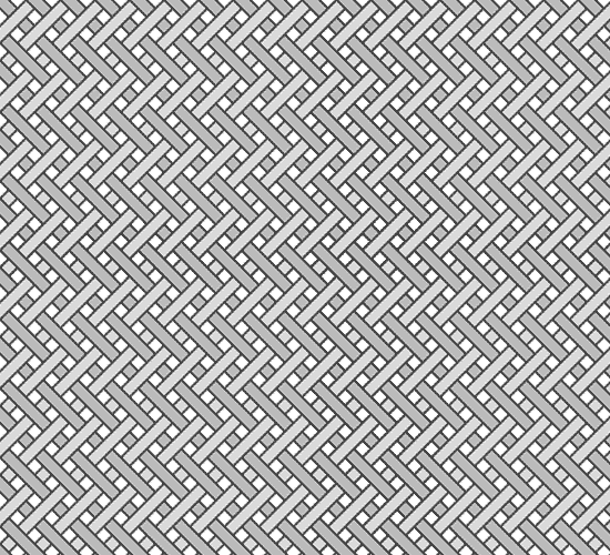 Grayscale diagram illustrating yarn pattern in Polyester + lycra microweave fabric