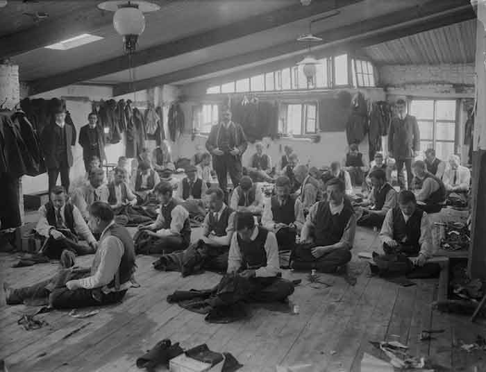 Men Working on the Floor Vintage - History of Shirts