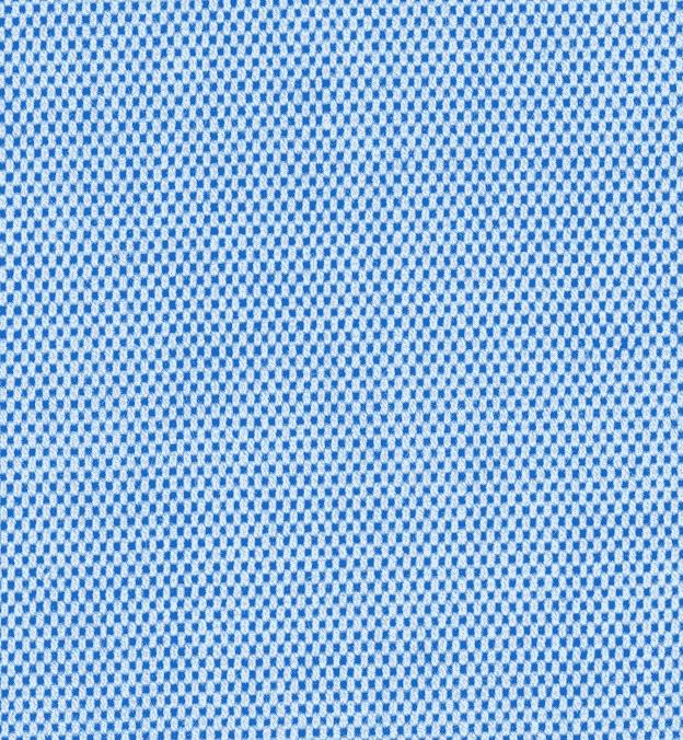 Detail photo - blue pinpoint textile
