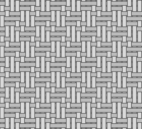 Grayscale weave diagram of yarn pattern in Royal Oxford Cloth fabric