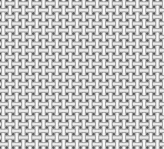 Grayscale diagram illustrating yarn pattern in modacrylic Fiber Knit Pile Fabric