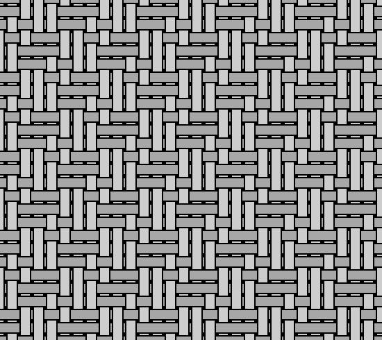 Grayscale diagram illustrating yarn pattern in Chamois fabric