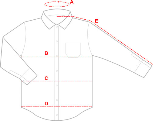 Men's Button Down Shirt Sizing Graphic Guide